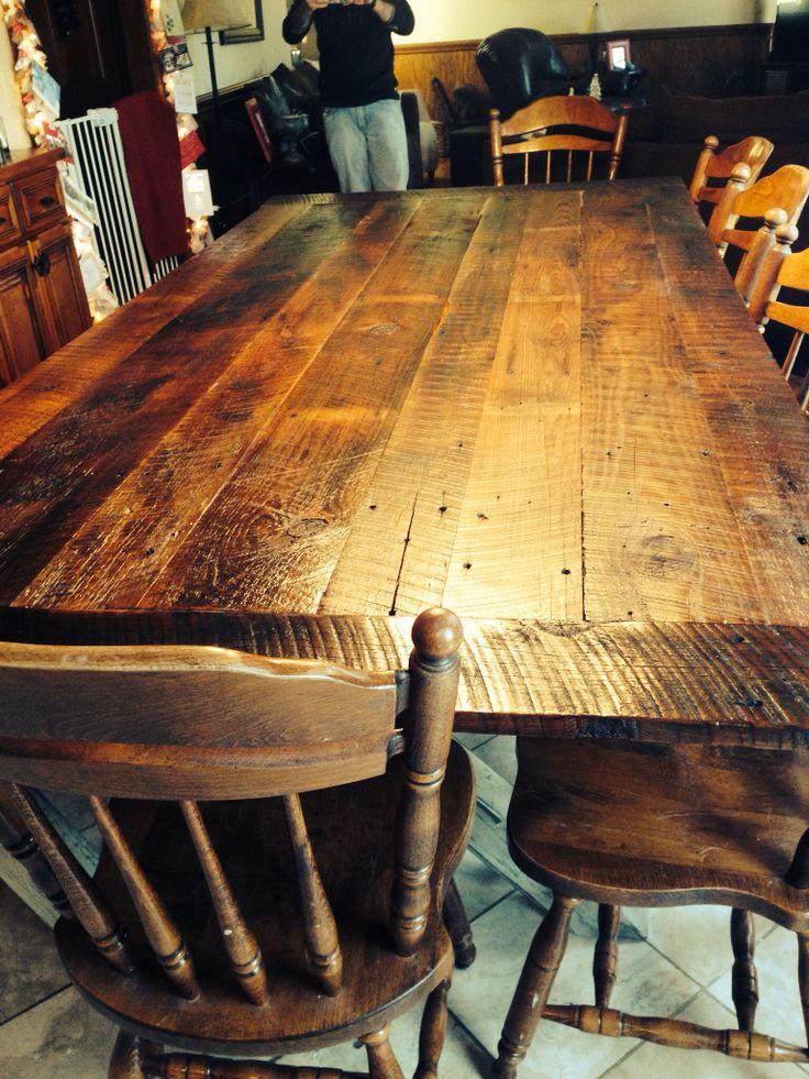 Farmhouse barn wood table