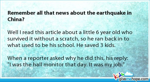 Remember all that news about the earthquake in China?