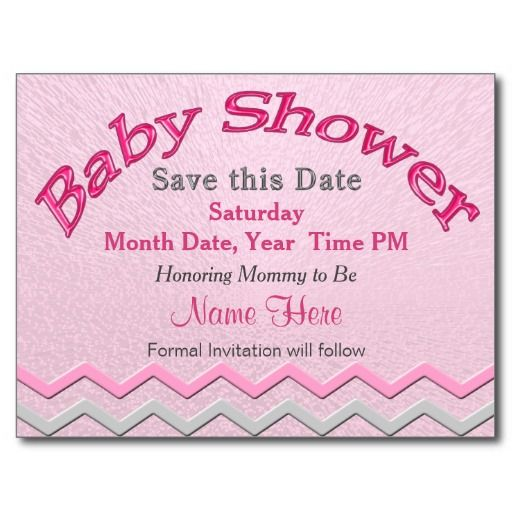 8 Best Baby Shower Save The Date Design Images On Pinterest