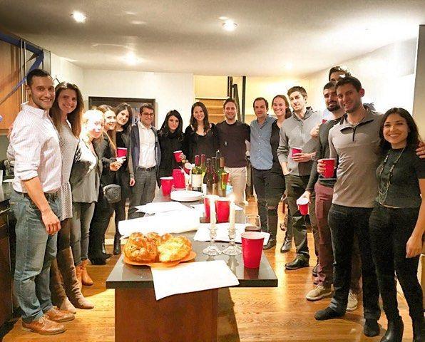 Great time hosting Startup Shabbat at my apt on Friday thanks to @adamcarv and @stephmweiner () #challahback #shabbat #nyc