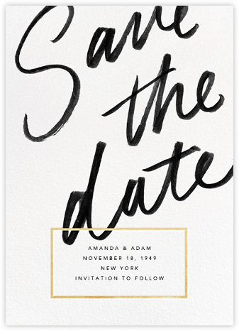 L'Heure Bleue (Save the Date) - Gold - Paperless Post