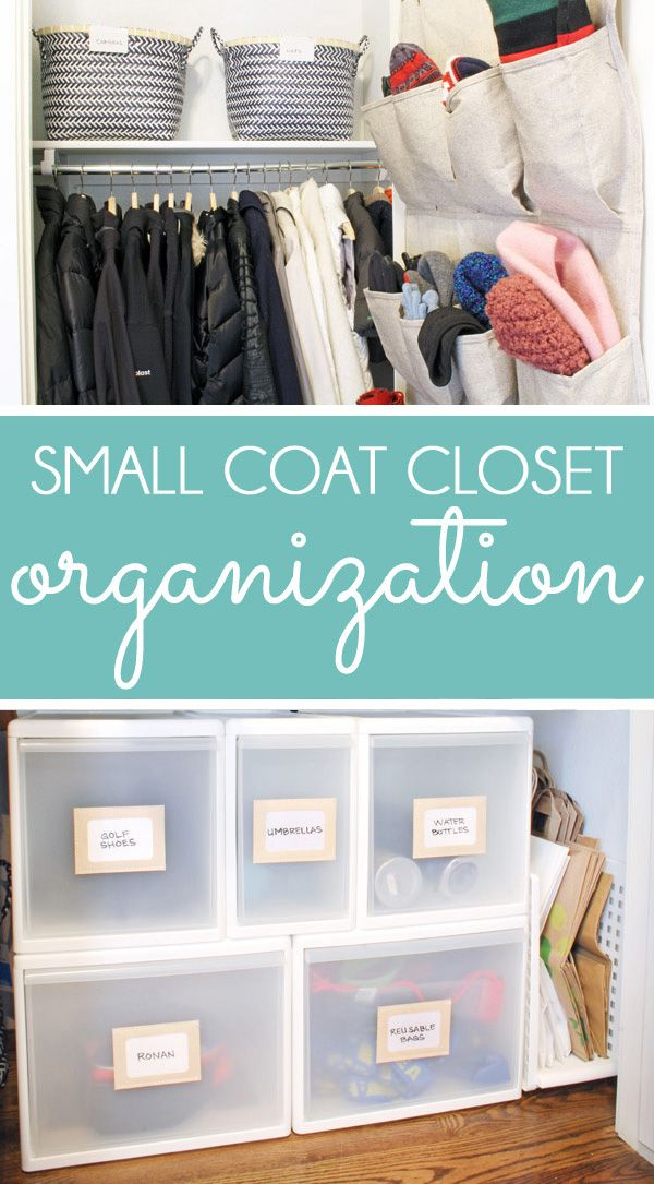 These small coat closet organization ideas will help you make the most of your space. Coat closets are challenging, but these coat closet storage solutions will allow you fit in all your jackets, hats, gloves, scarves, and even extras like water bottles and backpacks. Get tips for shoes and boots, too!