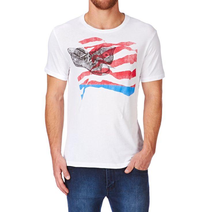 Men's Converse T-shirts - Converse Americana Chucks Crew T-shirt - Converse White