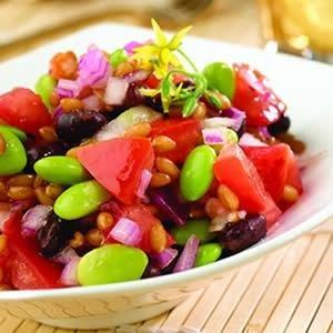 Wheat Berry Salad with Black Beans and Edamame #vegetarian #salad: Brown Rice, Wheatberri Salad, Wheat Berry Salad, Salad Recipes, Black Beans, Beans Salad, Vegetarian Salad, Wheat Berries Salad, Mr. Beans