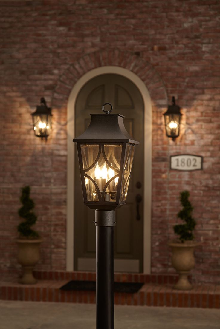Classic Details Like The Shepherds Crook Wall Mount Make This 3 Light Outdoor Post