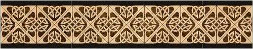 """Celtic 2"": wood flooring inlaid border design. Multiple species, can be sanded and refinished. #border #floorborder #woodfloorborder #woodfloor #wood #woodworking #woodfloordesign #inlay #intarsia #art #design #floor #functionalart #hardwoodfloor #inlaid #marquetry #pattern #parquet #woodinlay"