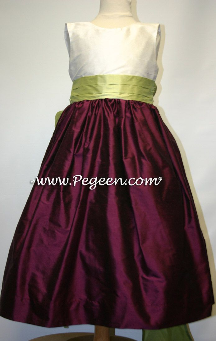 Girls plus size dresses in eggplant color