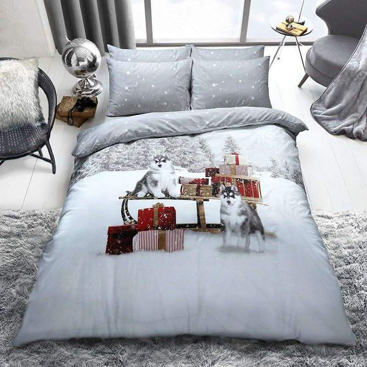 Pieridae Winter Huskies Double Duvet Cover Quilt Cover Luxury Bedding Set £16.95 Free UK Delivery