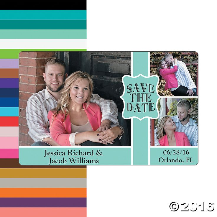 Save the Date Triple Image Custom Photo Magnets - OrientalTrading.com