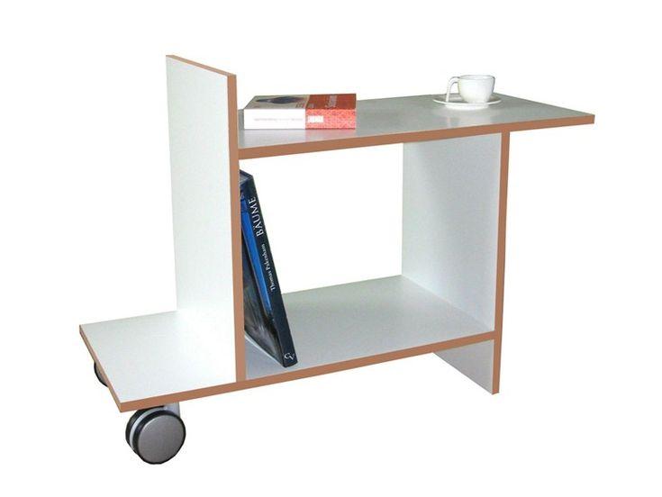 Rectangular coffee table with casters FREUND by Tojo Möbel design Dirk Frömchen