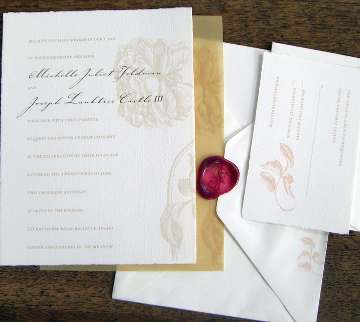 124 best Elegant Country Wedding Invitations & Stationery images on ...