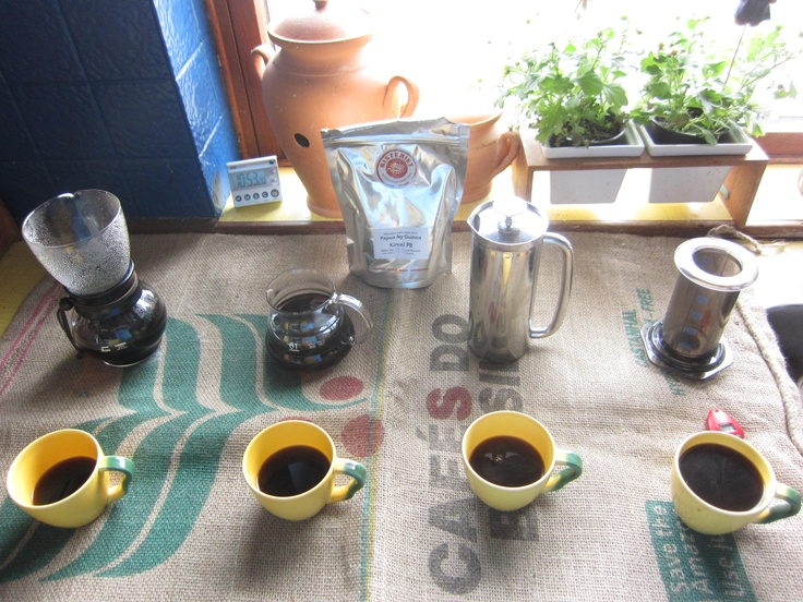 Very nice and tastefull coffee, this Papua New Ginea, Kimel peaberry from Risteriet.
