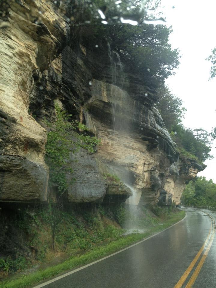 The bluffs at Noel Missouri water falls