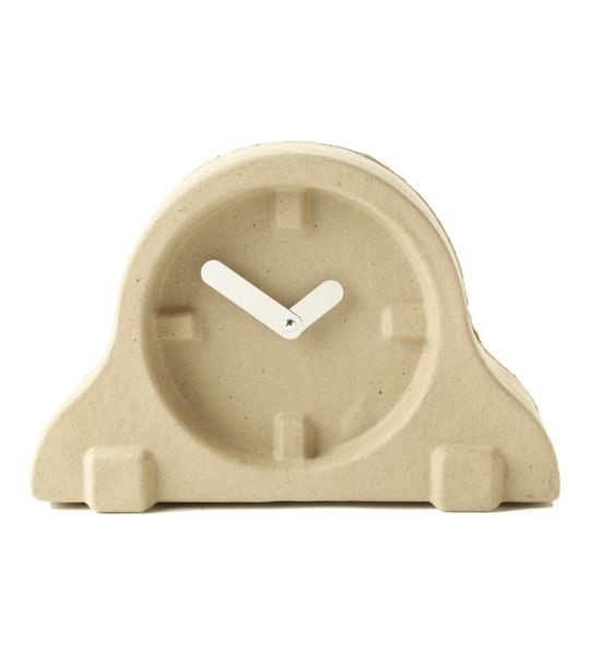 Invotis Recycled Paper Pulp Mantel Clock | $25.00