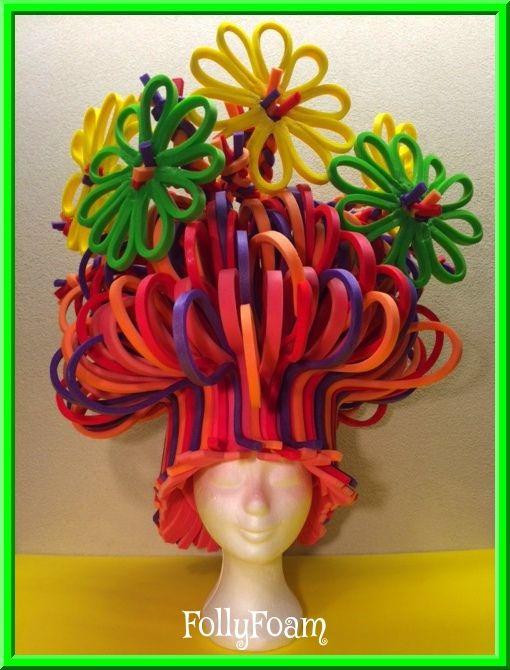 Foampruik / foamwig made of foam from FollyFoam! #carnaval #cosplay