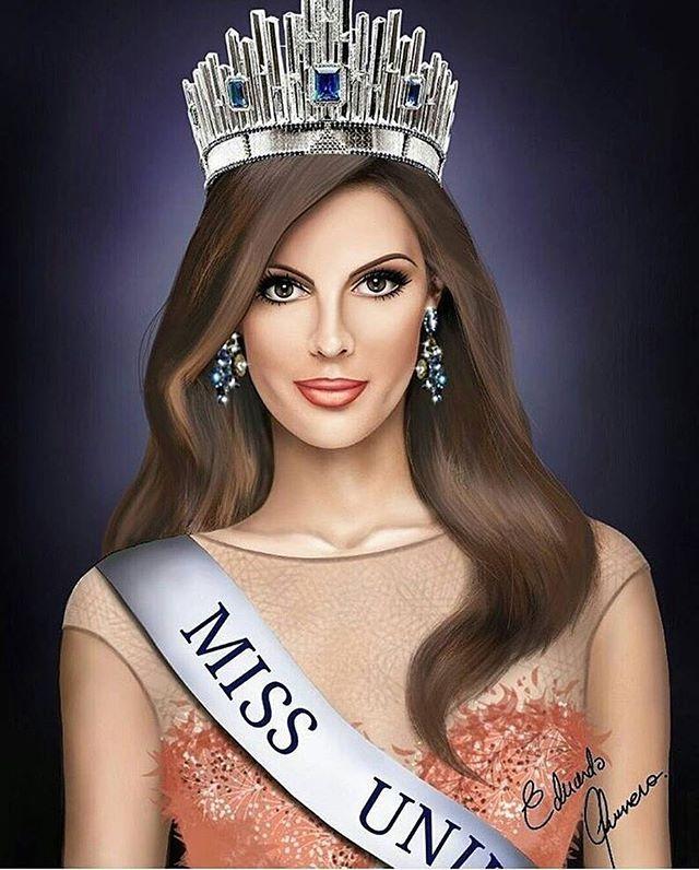 Drawing of Iris Mittenaere, Miss Universe 2016 by a fan! It's amazing!  4710d53d2f1c09f9f4c5632ffc4d75eb