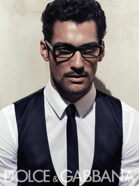 David Gandy for Dolce & Gabbana eyewear. Yes, he even looks good wearing glasses.