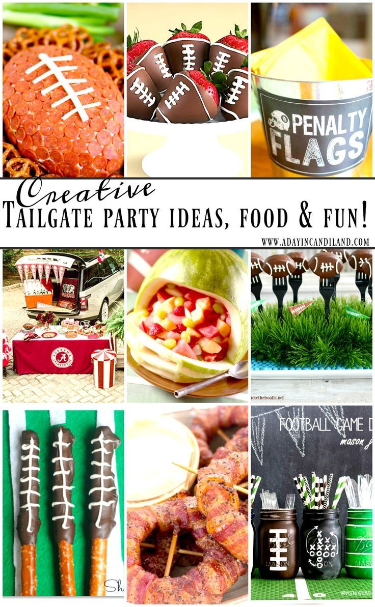 These creative tailgate party food ideas will be the talk of every football game or fun sports birthday party. Food, decor and more.