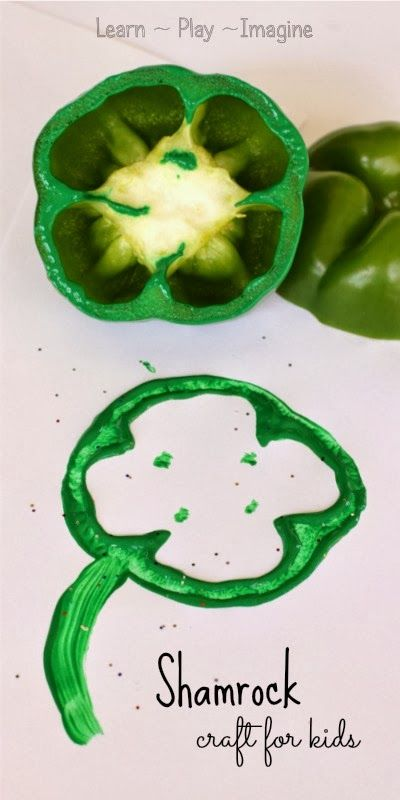 Fun and easy shamrock craft for kids - very little prep time required!