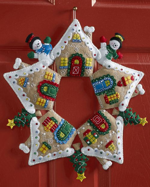 Gingerbread House Bucilla Wreath Kit