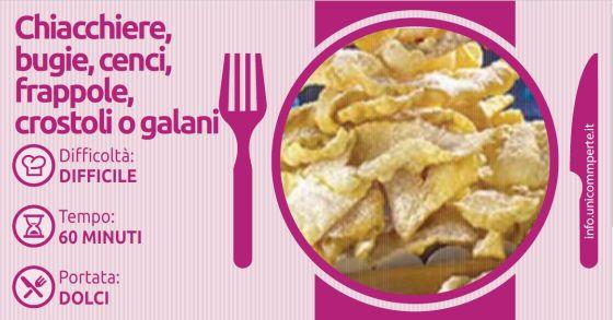 Chiacchiere, bugie, cenci, frappole…  Comunque le chiamiate sono sempre una delizia: provate la nostra ricetta!