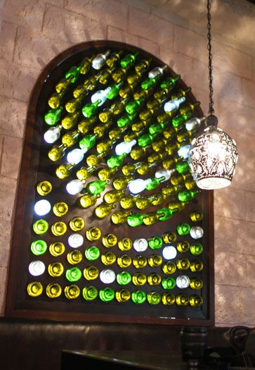 When i build my art studio it will have a recycled bottle for Recycled glass projects