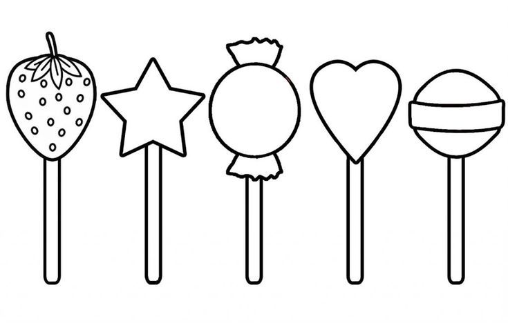 Easy Lollipop Coloring Pages Best Coloring Pages For Kids Simple Candy Coloring Pages Coloring Pages For Kids Coloring Pages