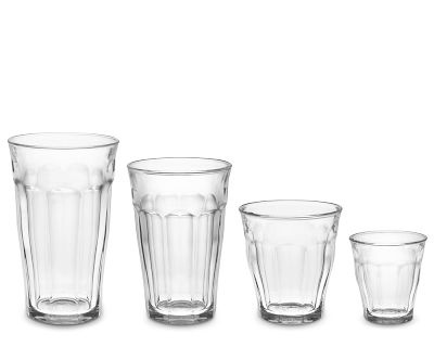 French Duralex Picardie Glass Tumblers - tempered glass and safe for kids. Available at World Market