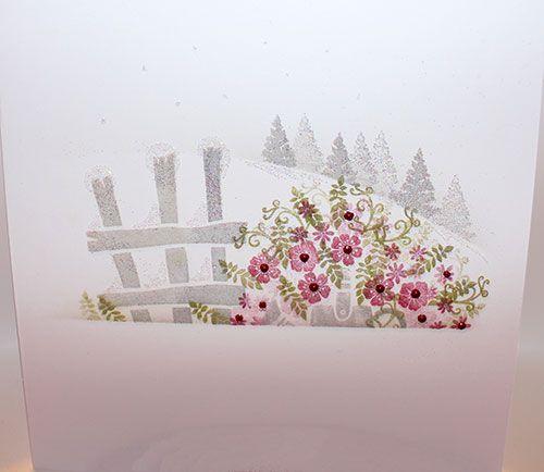 Scenery card using Veranda View, Pottery Petites and Woodland Walks