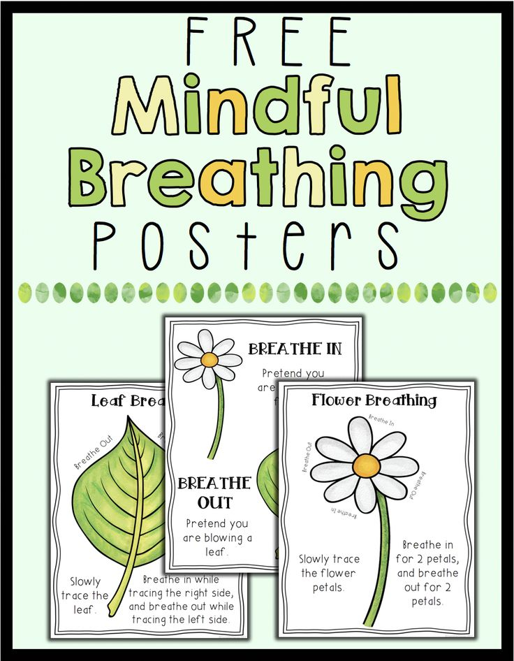 FREE posters to help students learn deep breathing. These 3 posters are spring themed and will help your students learn to practice mindfulness through breathing!
