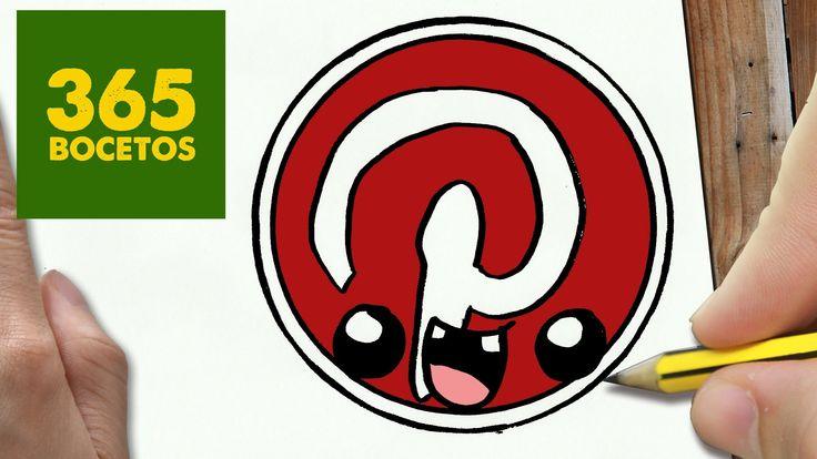 COMO DIBUJAR LOGO PINTEREST KAWAII PASO A PASO - Dibujos kawaii faciles - draw Logo Pinterest
