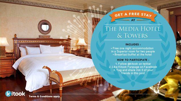 Dapatkan Voucher Menginap GRATIS di Hotel Mewah Bintang 5, The Media Hotel & Towers!
