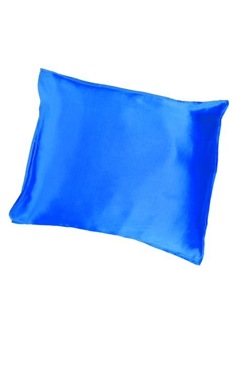 Sidenörngott Satin Azurblå