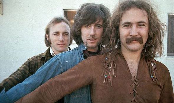 Crosby, Stills & Nash (left to right Stephen Stills, Graham Nash and David Crosby).
