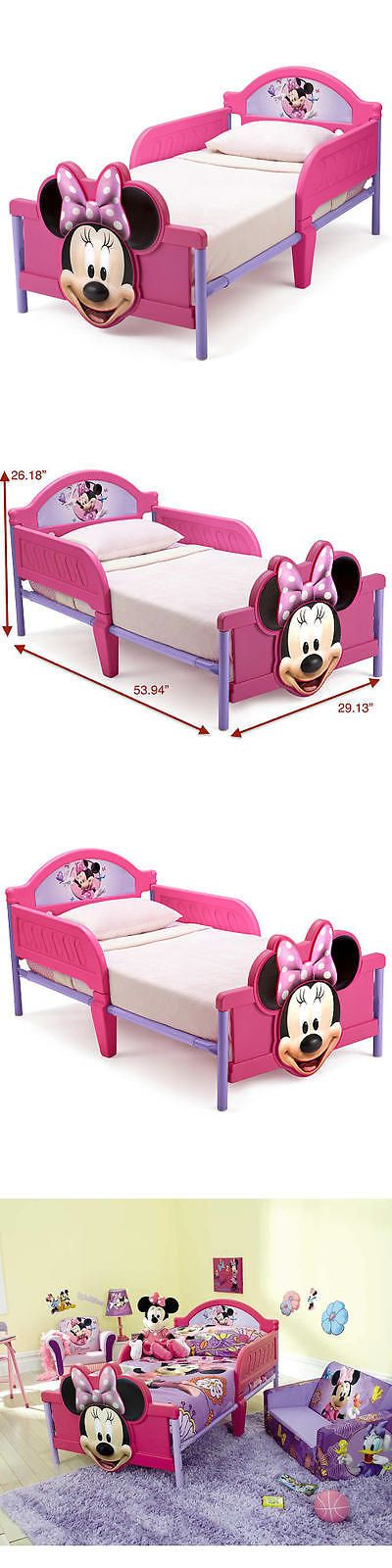 Kids Furniture: Disney Minnie Mouse 3D Toddler Bed BUY IT NOW ONLY: $59.99