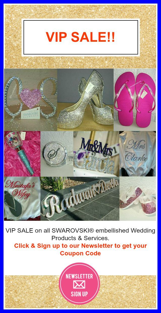 VIP Wedding Accessories SALE Less than 7 Days to go - ON NOW. Click on Link, Sign up and your VIP Coupon Code will be sent to you immediately