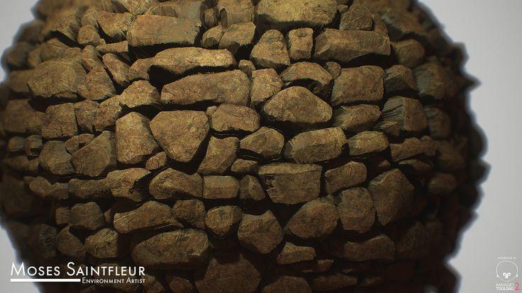 ArtStation - Stone Wall [Ruins], Moses Saintfleur