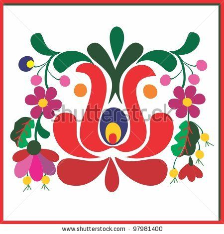 embroidery hungarian pattern by T.Eniko, via ShutterStock