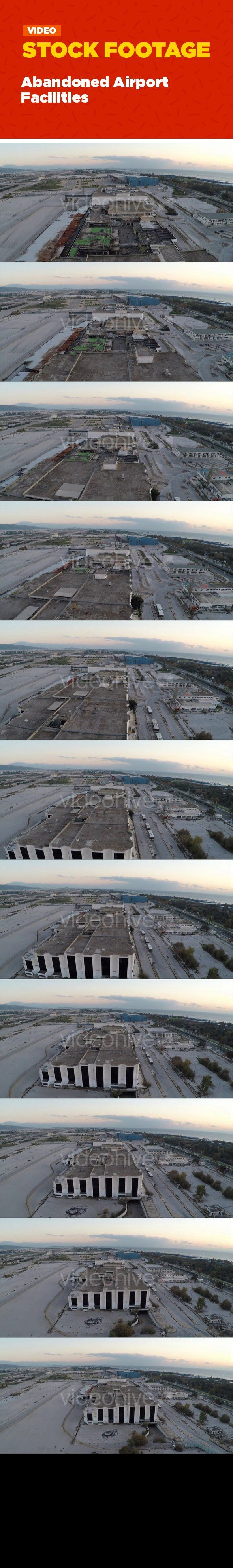 "abandoned, aerial, airport, athens, buildings, corrupted, damaged facilities, deserted, drone, facility, flying, greece, rooftops, ruined, urban Aerial view of the facilities of an abandoned airport.   	Music in the preview is not included.   	You can find here the track ""Tragedy Theme""  by WorldBeyond   	 Find more items fast:   	SEA – SUN – ISLANDS – CLOUDS – FIRE – ANIMALS – PLANTS – UNDERWATER   	CITY – TECHNOLOGY – INDUSTRIAL – WEATHER – HOLIDAYS – BUILDINGS..."