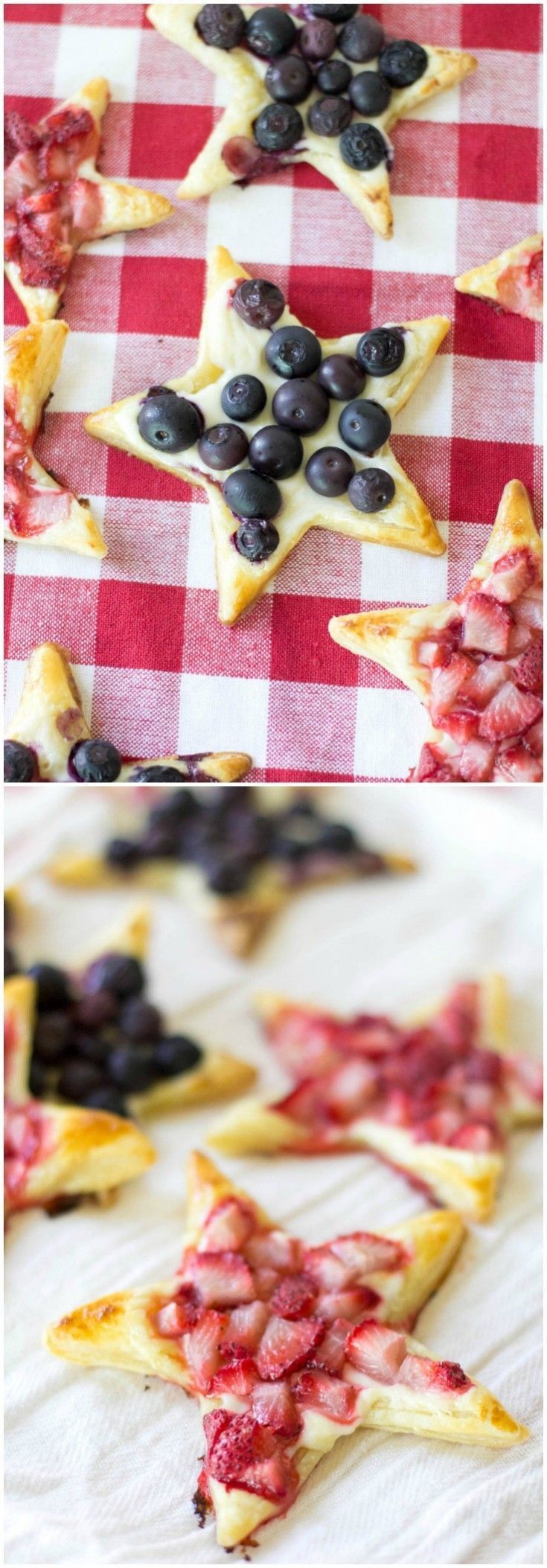 This delicious puff pastry recipe is perfect for summer! You'll use mixed berries along with cream cheese to make this tasty, star-shaped dessert. via @diy_candy