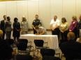 Lexington County Sexual Assault Response Team members sign the memorandum of agreement.  The SART is made up of law enforcement, nurses, solicitors, and advocates who meet to ensure we work together as a team to provide comprehensive services to sexual assault survivors.