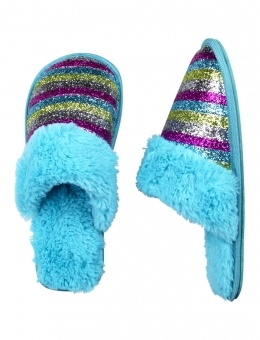 Glitter Stripe Slippers -for hailey