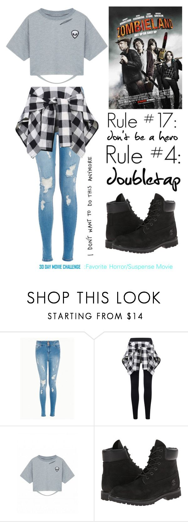 """Day 4: Favorite Horror/Suspense Movie"" by crystalloves5sos on Polyvore featuring Timberland and COS"