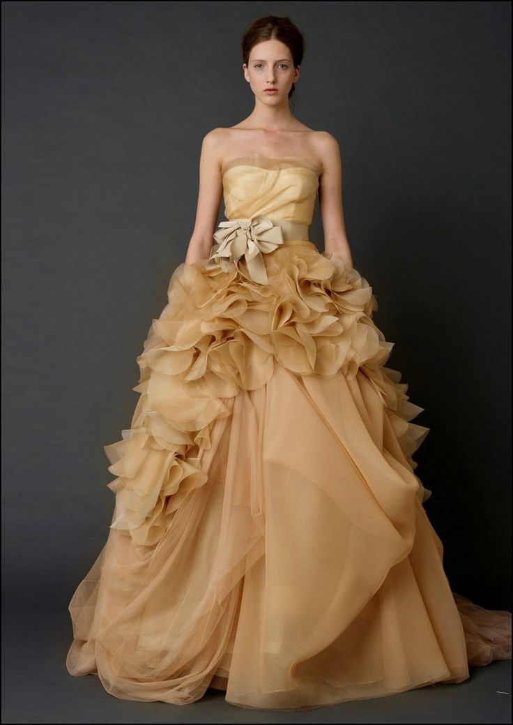 Brown and Gold Wedding Dresses