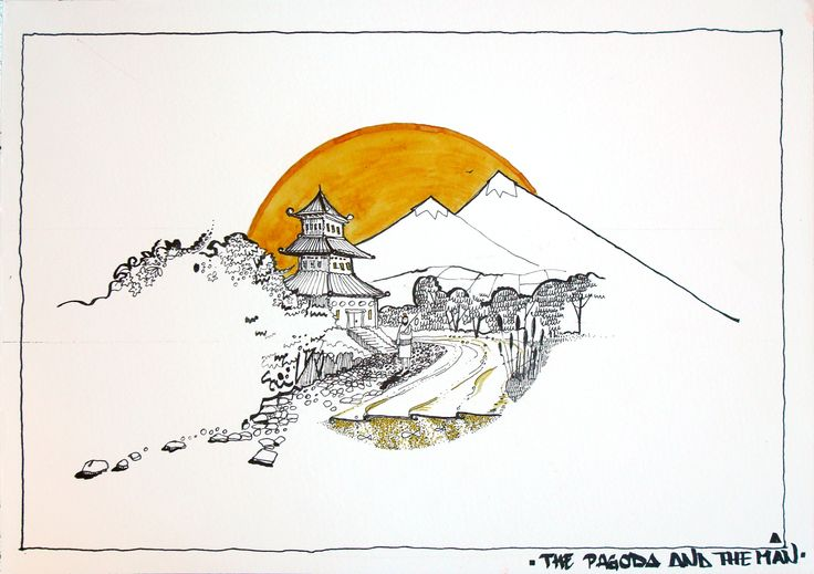 The Pagoda and the Man | Ana Malaianu | 2016