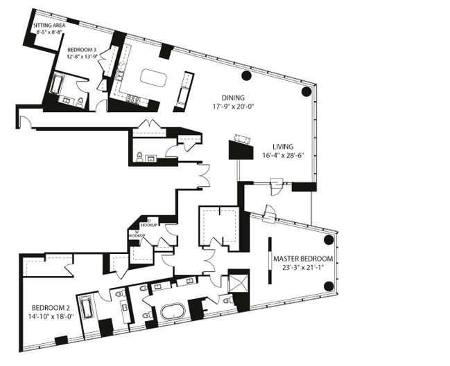 Penthouses In Chicago Floor Plans