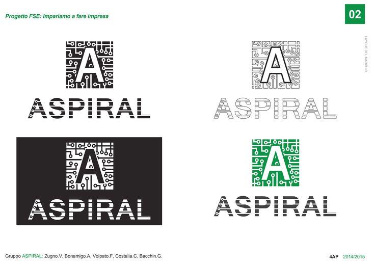 Progetto FSE  IMPARARE A FARE IMPRESA Team d'impresa: Aspiral Progetto grafico team Aspiral: layout del marchio Aspiral
