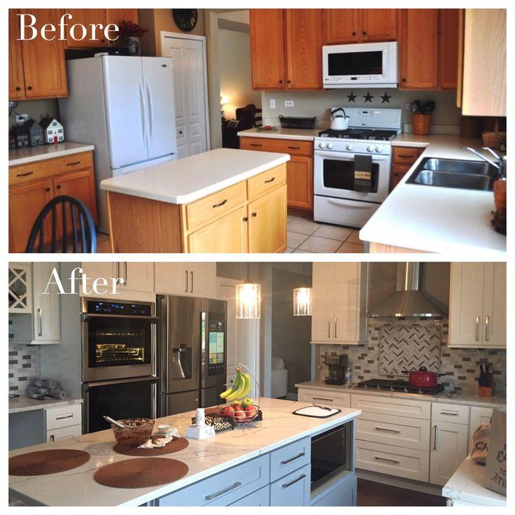 Oak Kitchen Cabinets Painted White: Best 25+ Oak Cabinet Makeovers Ideas On Pinterest