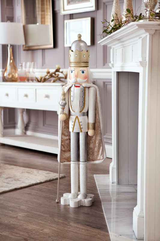 This regal nutcracker stands atop a snowflake with his luxe cape cascading behind him. Shop Biltmore products for your home this season.