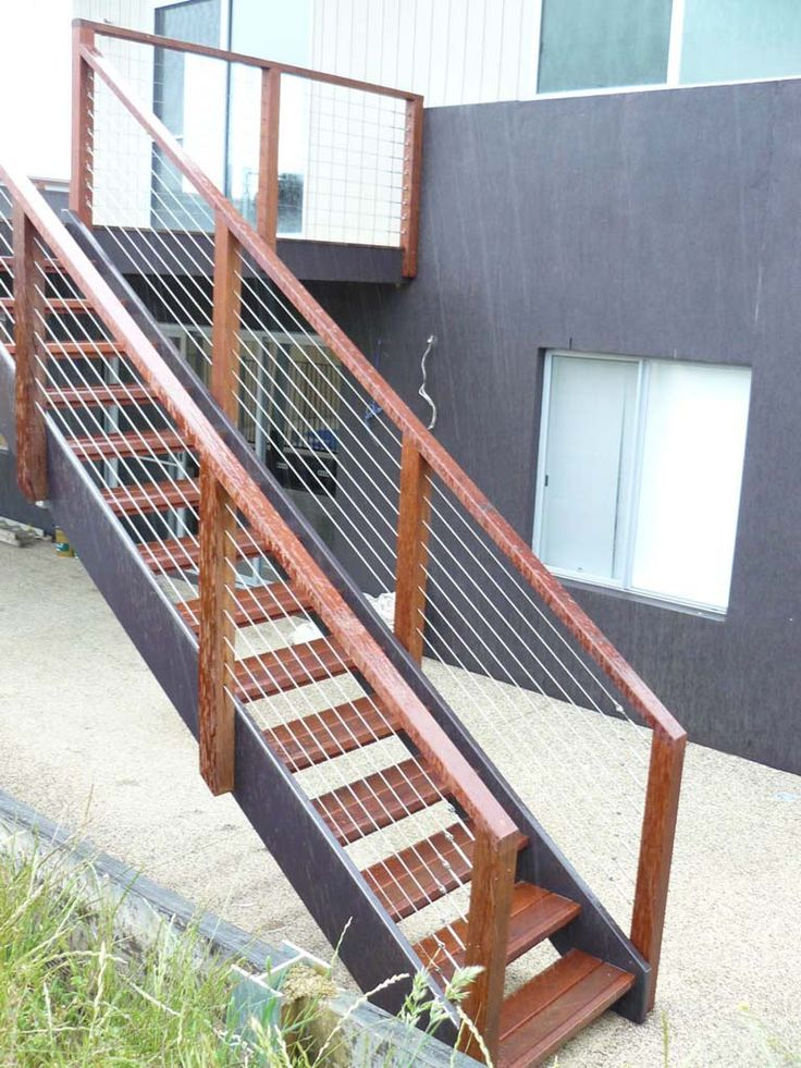 external staircase - metal and wood                              …